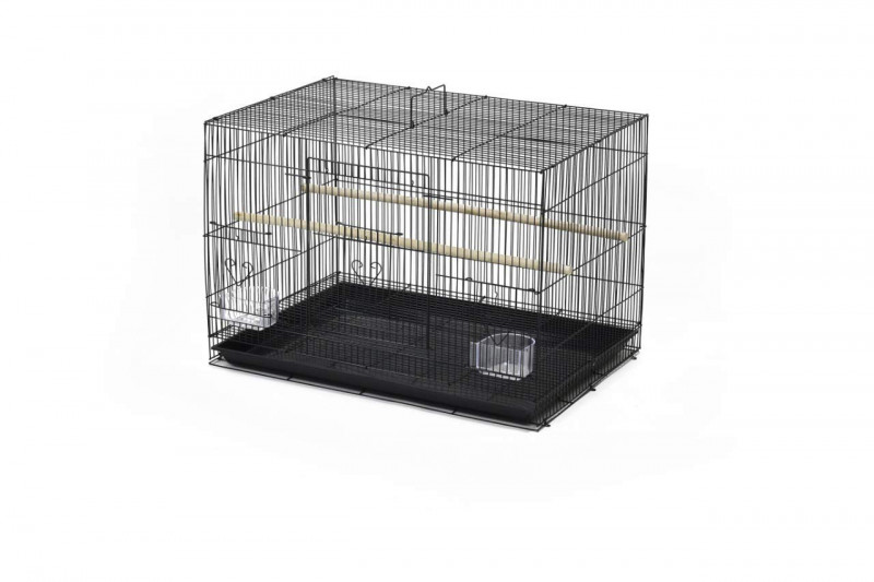 PetNest Bird Cage for Budgies Love Birds Finches Cocktails Conures Black